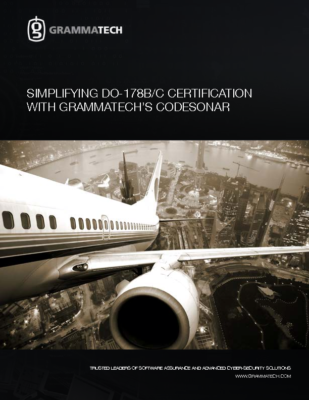 Simplifying DO-178BC Certification with GrammaTech's CodeSonar
