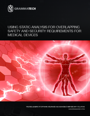 Using Static Analysis for Overlapping Safety and Security Requirements for Medical Devices-WP